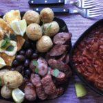 festive freshness - chorizo haloumi platter