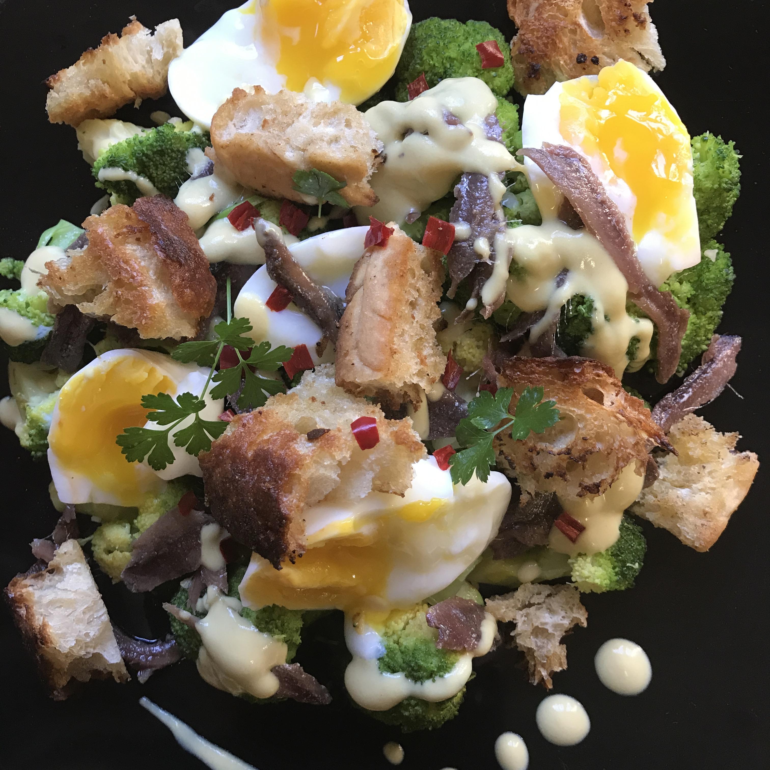 Broccoli & Boiled Egg Salad