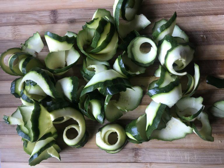 low carb chicken spinach zucchini lasagne zucchini spirals