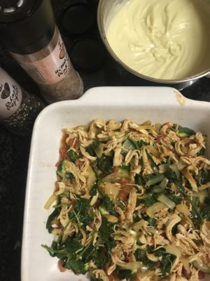 low carb chicken spinach zucchini lasagne recipe